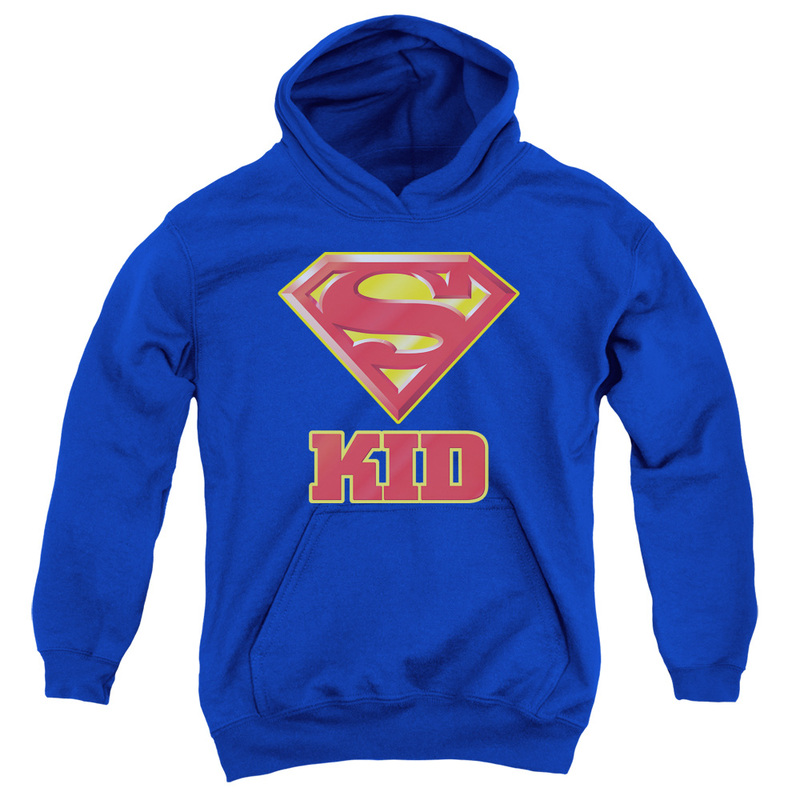 Superman Super Kid Youth Pull-Over Hoodie Royal S