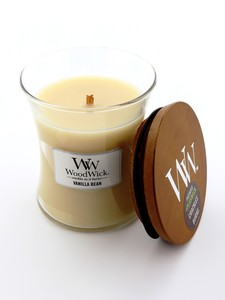 Woodwick Medium Candle Jar Vanilla Bean