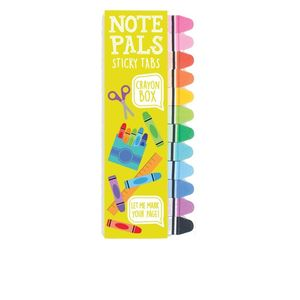 International Arrivals Note Pals Sticky Tabs Crayon Box