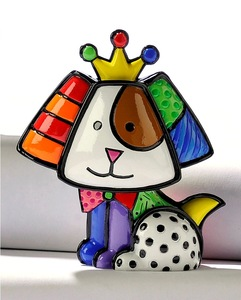 Romero Britto Mini Royalty Beagle Figurine