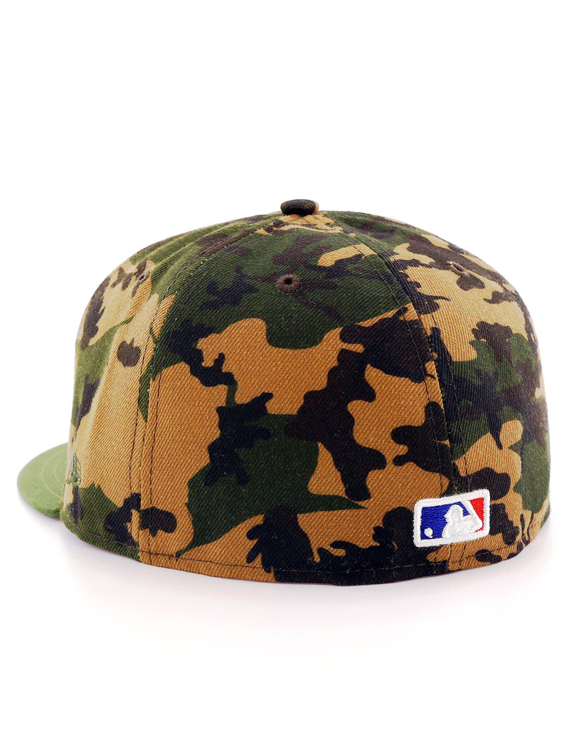 new era camo team fitted ny yankees woodland camo cap. Black Bedroom Furniture Sets. Home Design Ideas