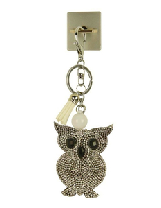 iOrigin Ring + Owl with White Crystal Keychain for Smartphones