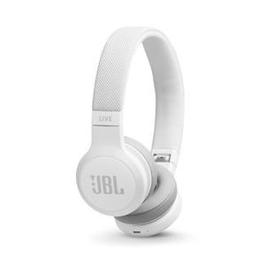 JBL Live 400BT White On-Ear Headphones