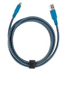 Energea NyloTough Rapid Charge & Sync Blue Lightning Cable 1.5m