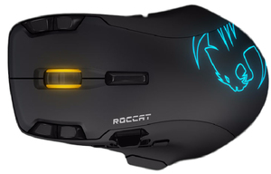 ROCCAT LEADR Black Wireless Multi-Button RGB Gaming Mouse