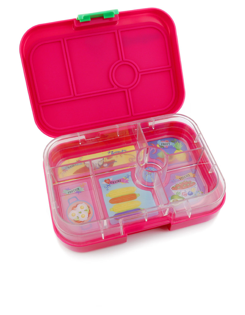 yumbox rosa pink 6 compartment lunch box lunch boxes lunch bento boxes stationery. Black Bedroom Furniture Sets. Home Design Ideas