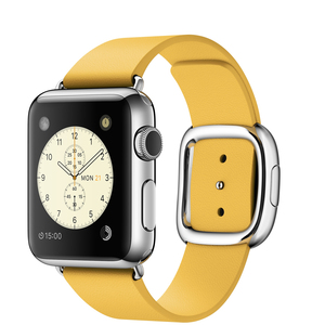 Apple Watch 38mm Stainless Steel Case With Marigold Modern Buckle Large