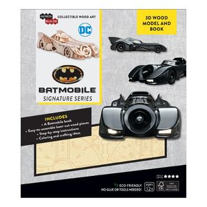Incredibuilds Batmobile Signature Series 3D Wood Model And Book