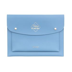 Back to Office Today Is the Day Double Wristlet Blue