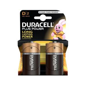 Duracell Plus Power Type D Alkaline Battries [2 Pack]