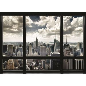 New York Window Poster [100 x 140 cm]