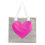 Ban.do I Want It All Shopper Neon Heart With Stripes