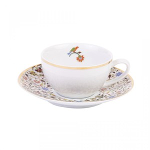 Silsal Majestic Tea Cup And Saucer with 22 Carat Gold
