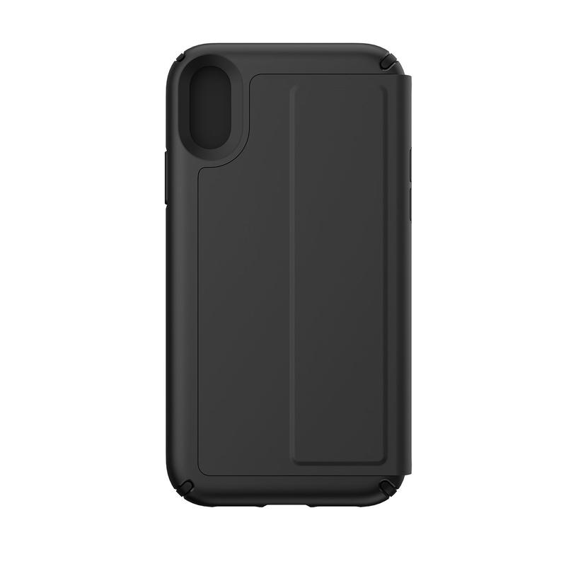 the best attitude 67a7c 17e7c Speck Presidio Folio Leather Case Black/Black for iPhone XR