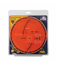 Constructive Eating Construction Plate Orange