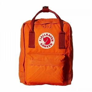Fjallraven Kanken Mini Backpack Burnt Orange/Deep Red