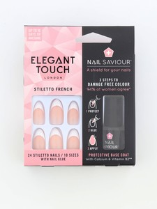 Elegant Touch Nail Saviour Stiletto French