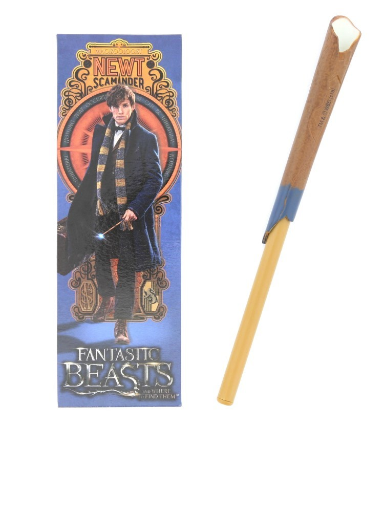 Noble Collection Fantastic Beasts Newts Scamder Wand Pen & Bookmark