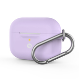 Baykron Silicone Case Purple for AirPods Pro with Carabiner