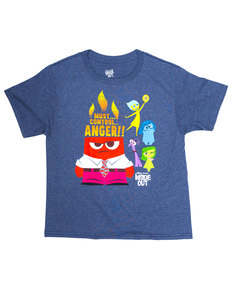Mad Engine Anger Control Kids Heather Navy T-Shirt