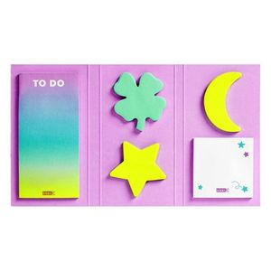 Kikki.K Adhesive Notes Set: Lucky Stars Sticky Note