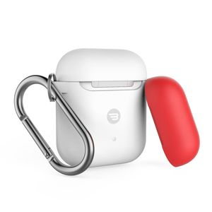 Baykron Silicone Case White + Red Cap for AirPods