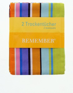 Remember Kitchen Towel Bright Colors [Set of 2]