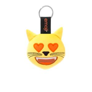 Emoji Hearts Eyes Cat Official Yellow Keychain