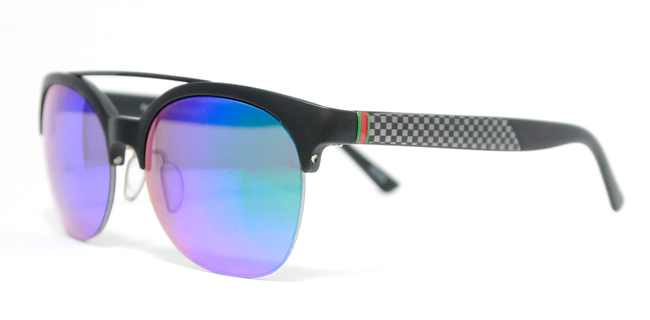 1604d6e1fae Eleven Miami Fashion Sunglasses Round Frame W  Bar Unisex Black Blue Orange Clear