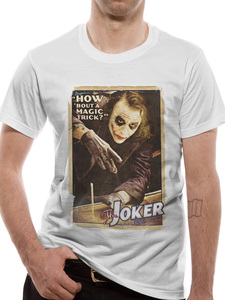 CID The Dark Knight Trilogy Joker Poster Men's T-Shirt White