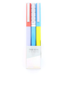 Ohh Deer Colour Blocking Pen [Set of 3]