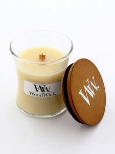 Woodwick Mini Jar Candle Vanilla Bean