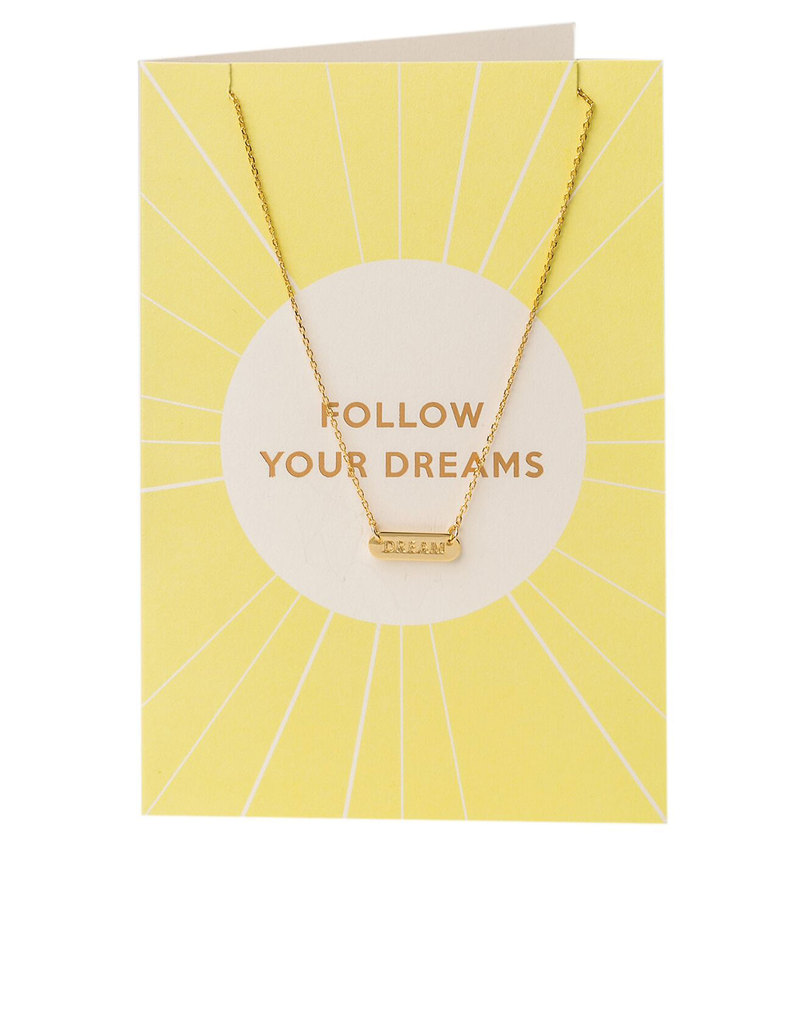 Orelia Gold Plated Follow Your Dreams Necklace Gift Card ...