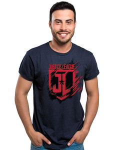 CID Justice League Movie Shield Navy Unisex T-Shirt