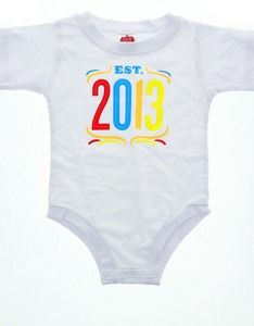 Wry Baby Established 2013 Onesie