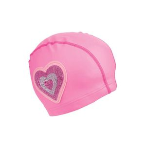 Bling2O Swimming Cap Neon Pink Heart