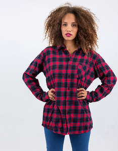 Adventure Begins Custom Flannel Woven Shirt Red/Blue Plaid