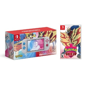 Nintendo Switch Lite Zacian and Zamazenta Edition + Pokemon Shield [US]