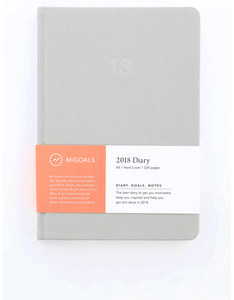 MiGoals Minimal Diary Hard Cover A5 Grey 2018 Planner