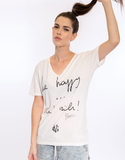 Be Happy Not Rich Gv White Men'S T-Shirt L