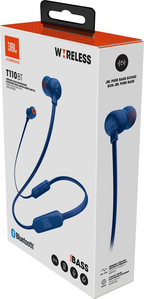 JBL T110 Blue Bluetooth In-Ear Earphones