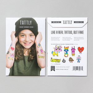 Tattly Happy Doodles Temporary Tattoo Set