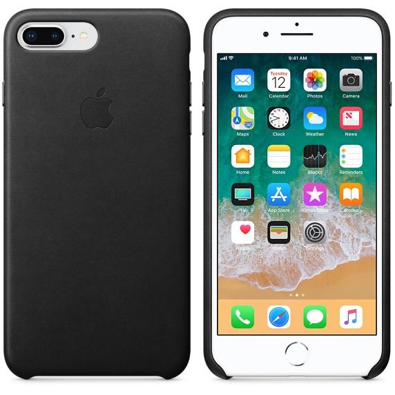 cca10a6bd6f8 ... Apple Leather Case Black for iPhone 8 Plus 7 Plus ...