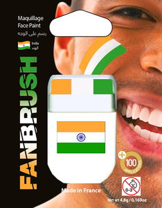 Fanbrush India Flag Face Paint