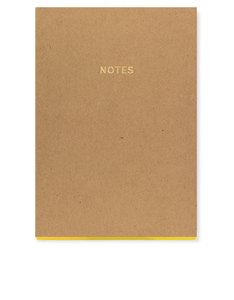 Go Stationery Colourblock Natural Kraft A5 Notebook