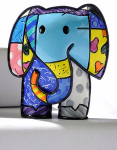 Romero Britto Mini Lucky Elephant Figurine