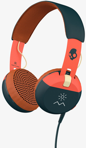 Skullcandy Grind Explore Orange/Navy W/Mic Headphones