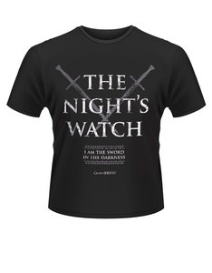 Plastichead Game Of Thrones The Night's Watch Black T-Shirt