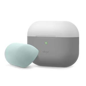 Elago Duo Case Top Light Gray/Mint Bottom Dark Gray Translucent for AirPods Pro
