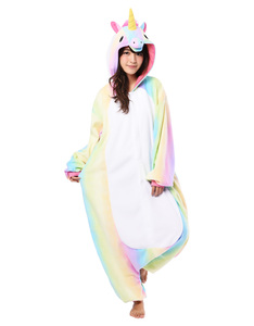 Rainbow Unicorn Kigurumi Multi Adult Costume
